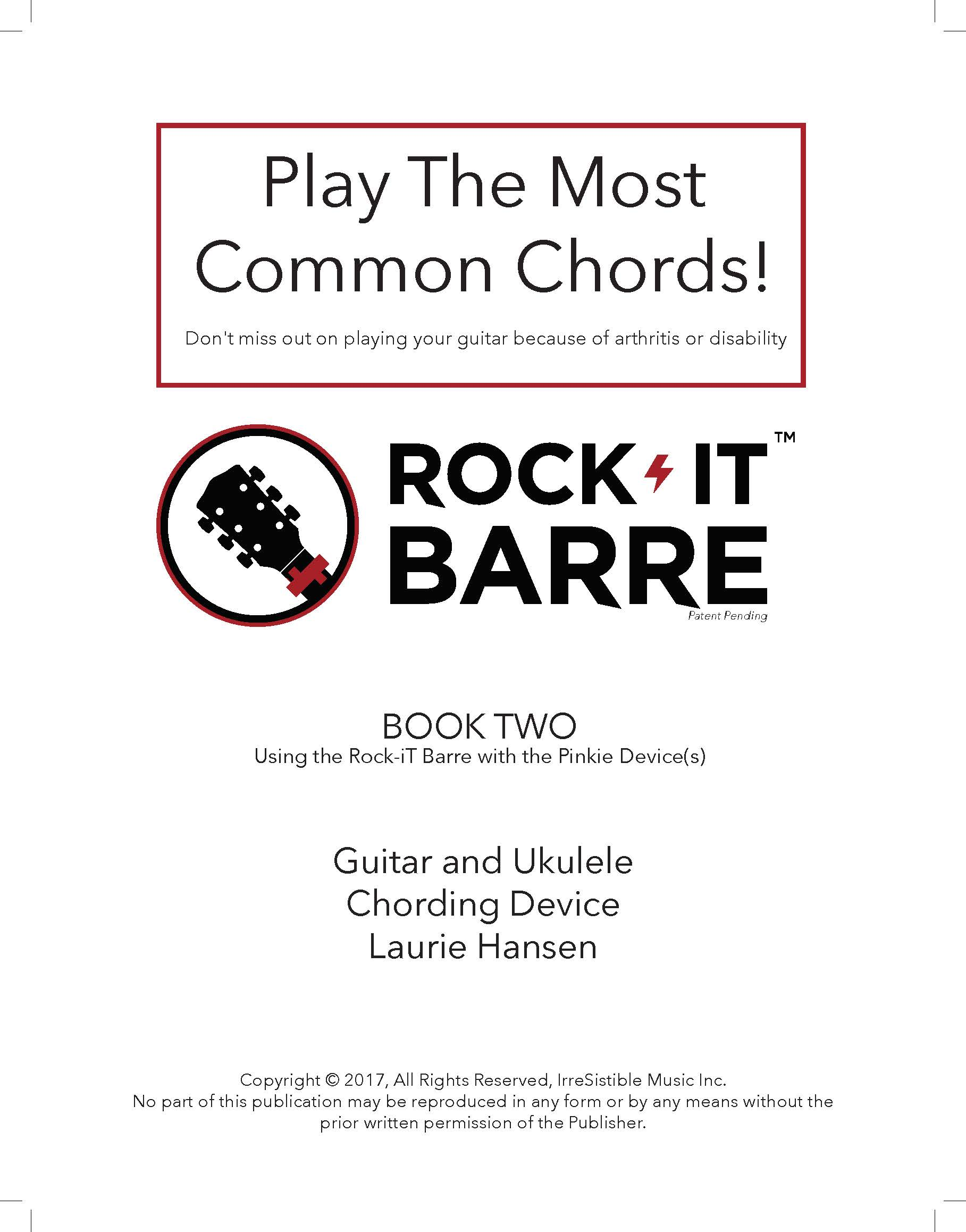 Advanced Method Book Two For The Rock It Barre Guitar Chord Device